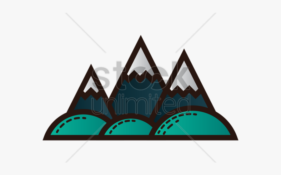 Snow Capped Mountains Clipart, Transparent Clipart