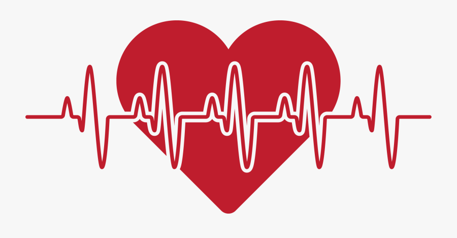 Rate Red Love Pulse - Love Heart Rate, Transparent Clipart