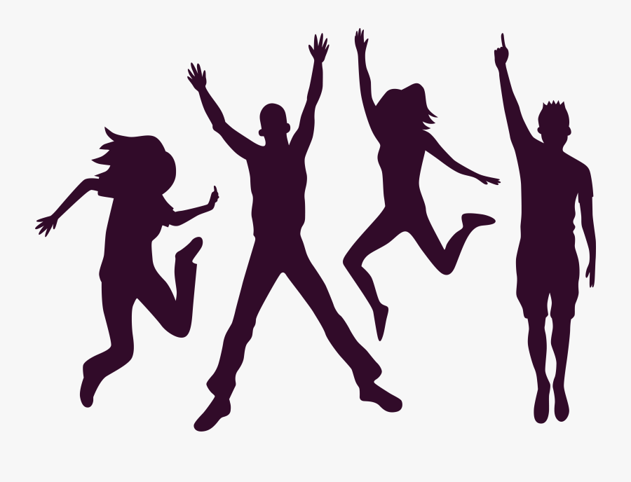 Carnival Party Silhouette Png Download - Friendship Day Banner Latest, Transparent Clipart