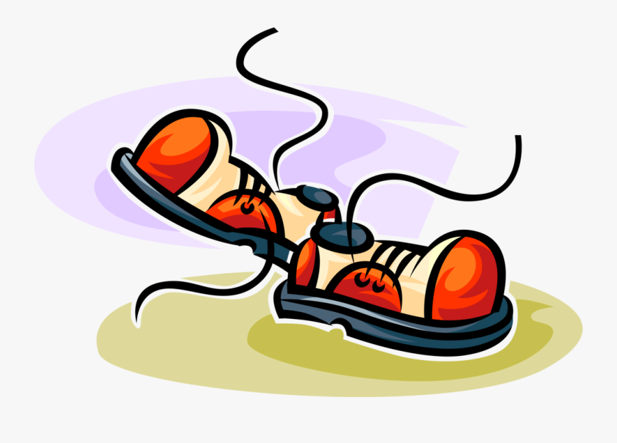 Vector Illustration Of Footwear Shoes With Shoelaces - Schuhe Clipart, Transparent Clipart
