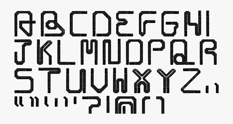 Clip Art Shoe Lace Fontstruct - Monochrome, Transparent Clipart