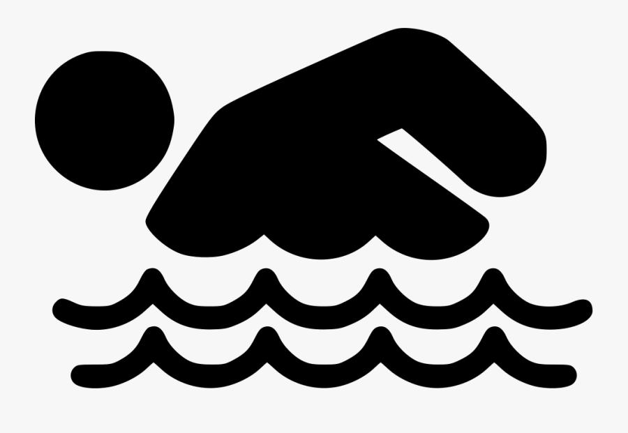 Swimming Person - Draw A Person Swimming, Transparent Clipart