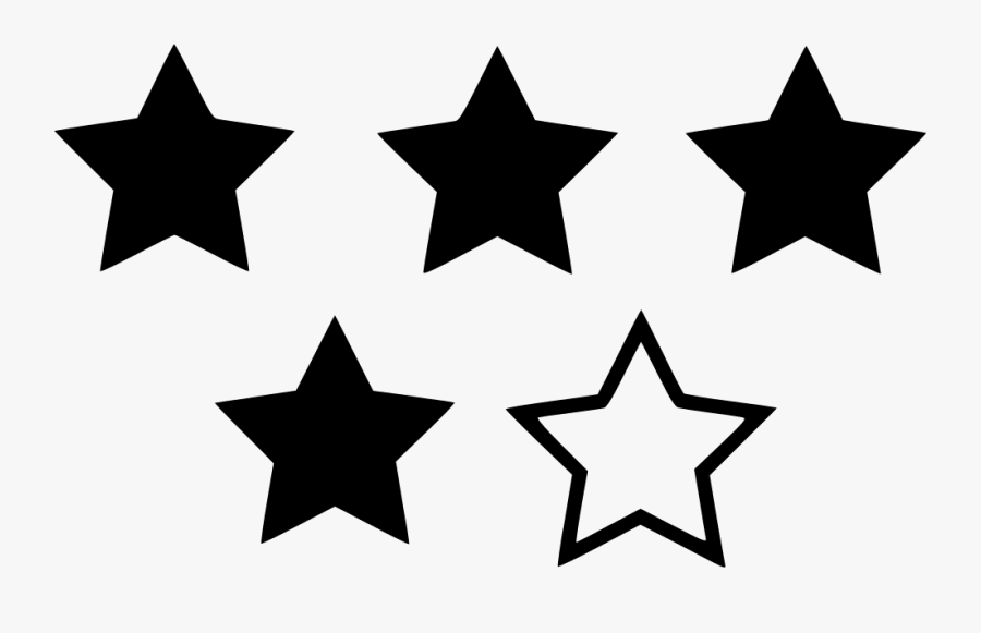 Four Star Svg Icon - 4 Star Rating Blue, Transparent Clipart