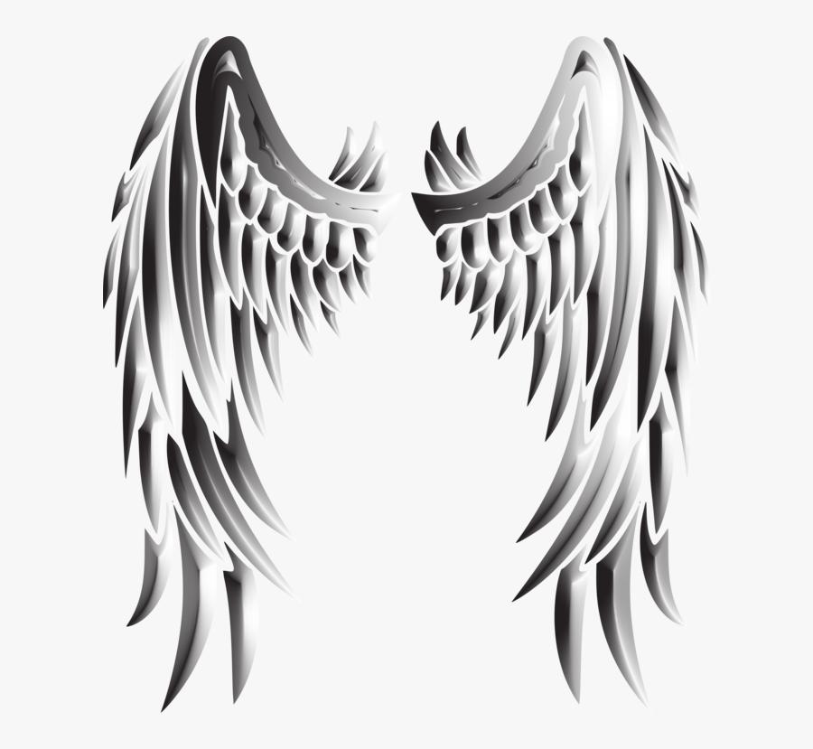 Sayap Malaikat Hitam Putih Keren, Transparent Clipart