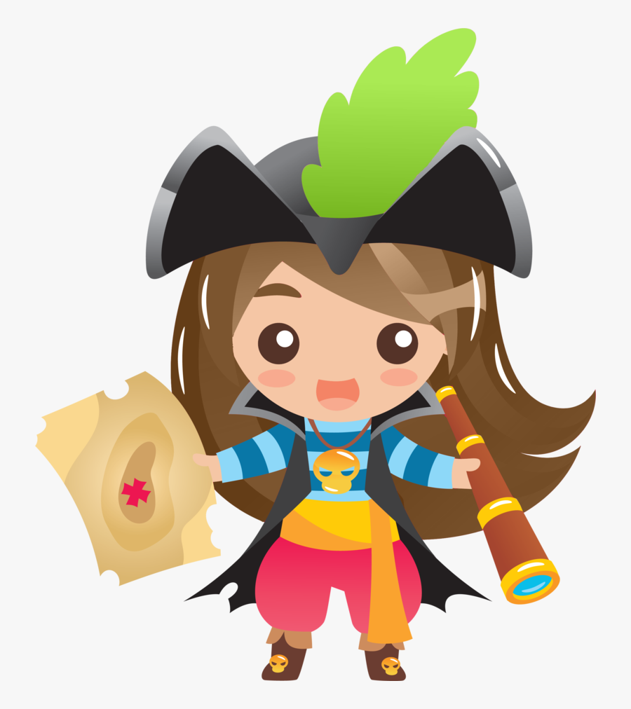 Challenge Grants Partners Kpcw - Transparent Pirate Girl Clipart, Transparent Clipart