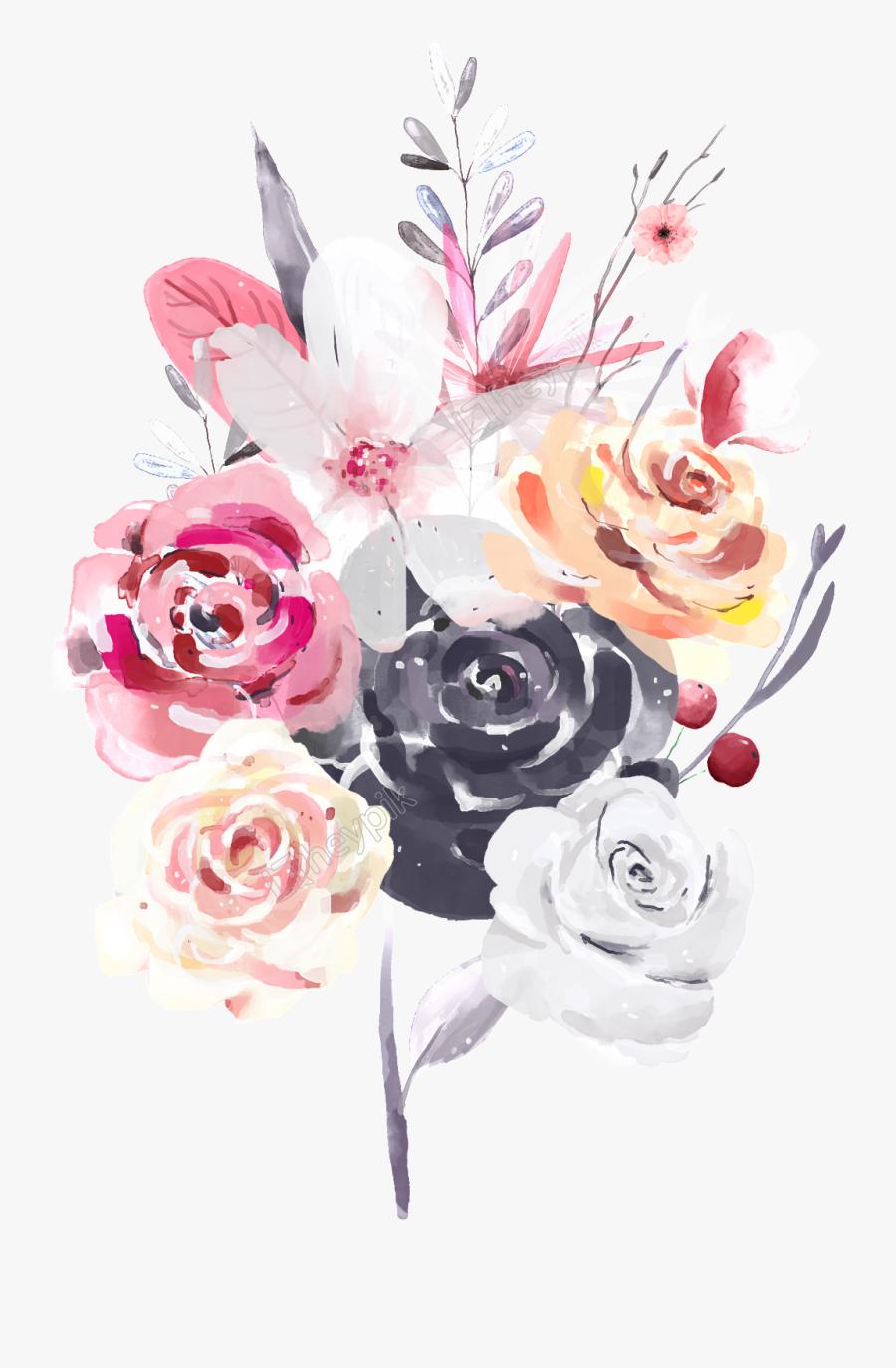 Bouquet Vector Color Flower - Floral Design, Transparent Clipart