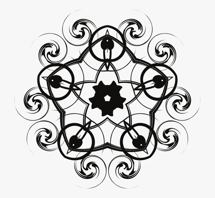 Line Art,symmetry,area - Circle, Transparent Clipart
