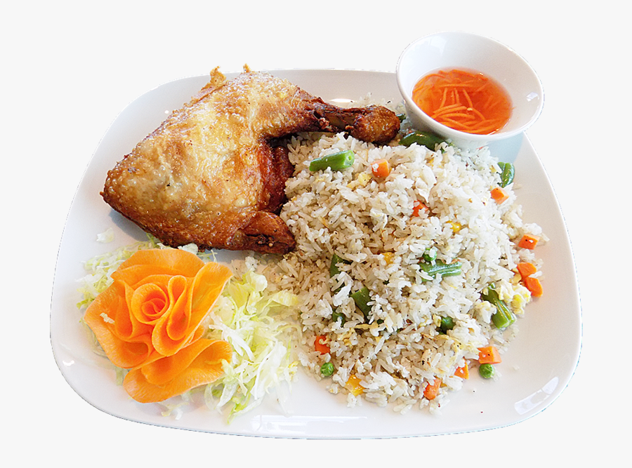 Thai Cuisine Hainanese Chicke - Fried Rice And Chicken Png, Transparent Clipart