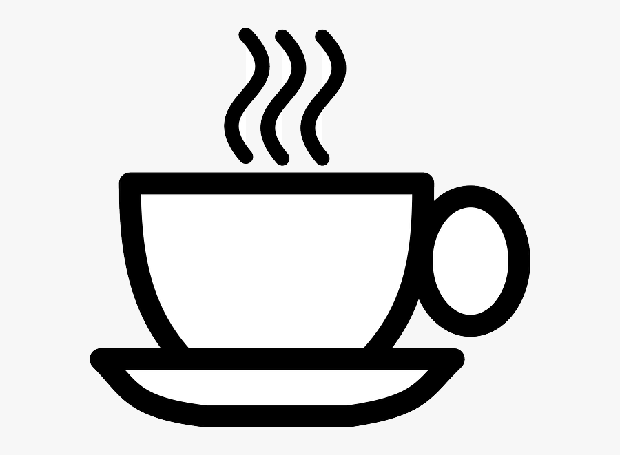 Transparent Coffee Cup Top Png - Coffee Clipart Black And White, Transparent Clipart
