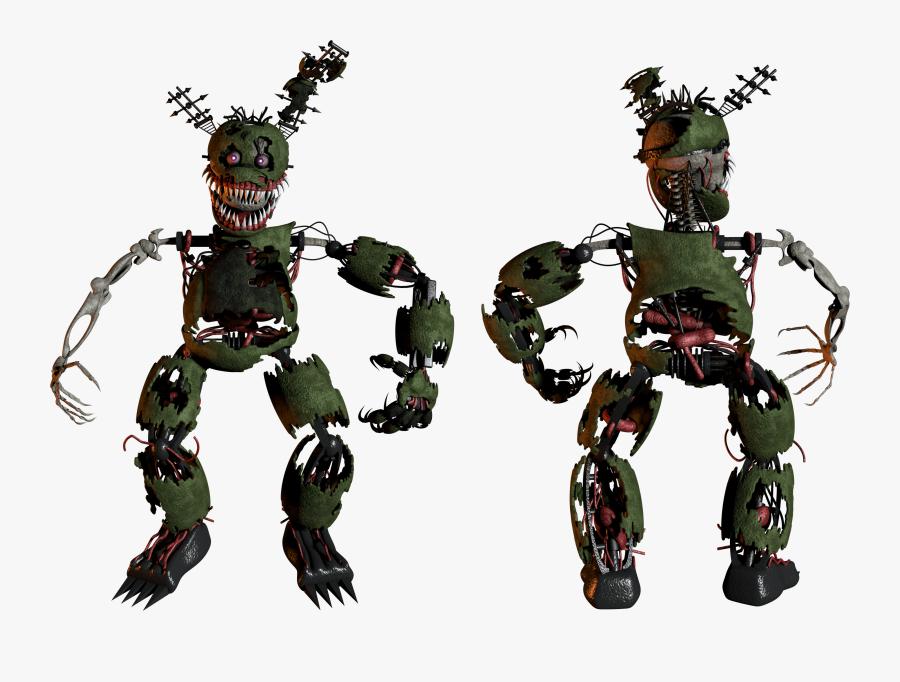 Mecha,fictional Combat,orc - Nightmare Springtrap Fnaf 6, Transparent Clipart