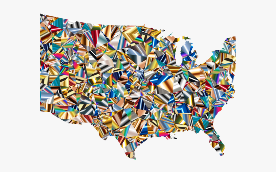 World Map Clipart Usa - United States Choropleth Map, Transparent Clipart