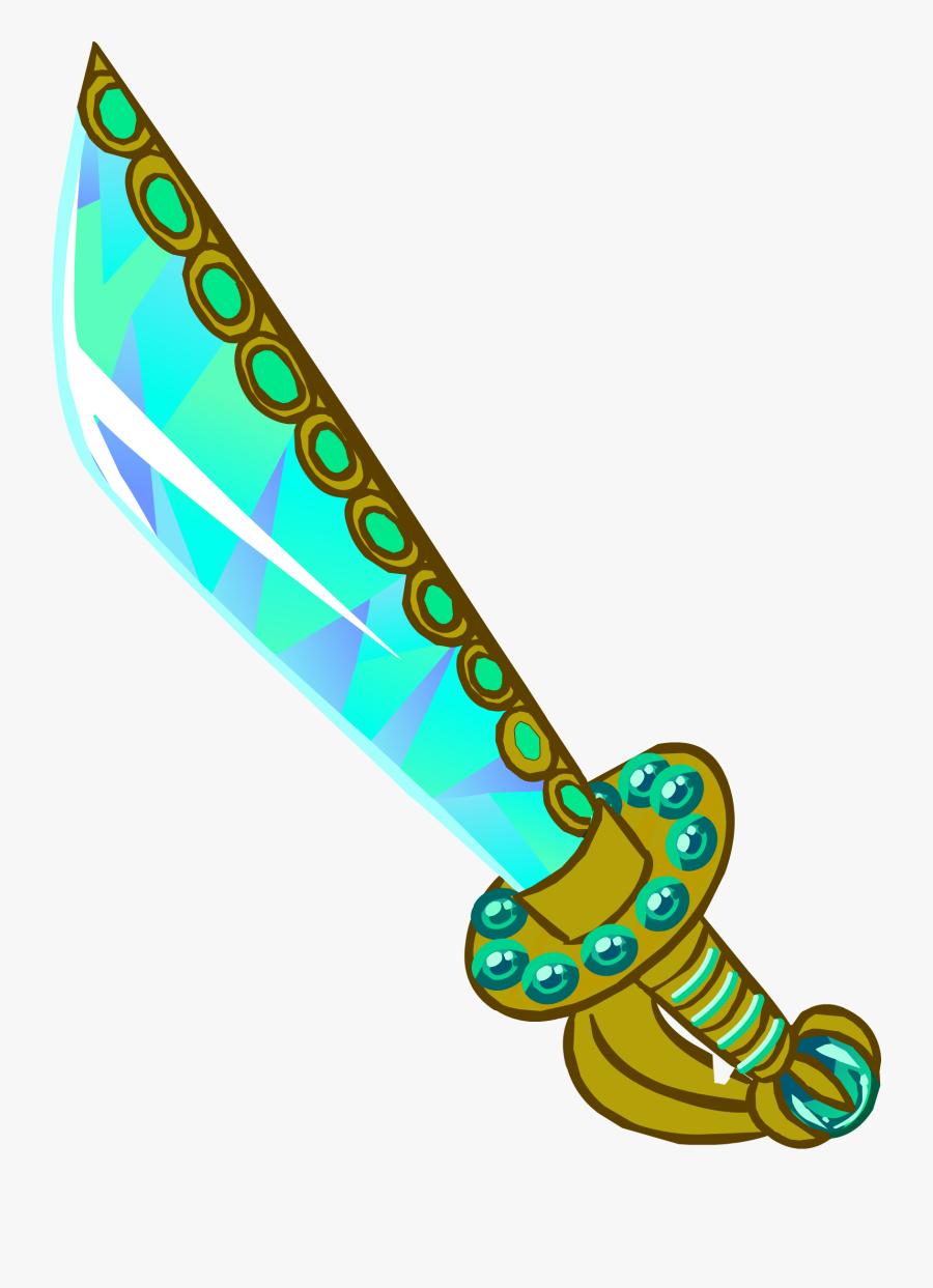 Pirates Clipart Sword - Club Penguin Sword, Transparent Clipart