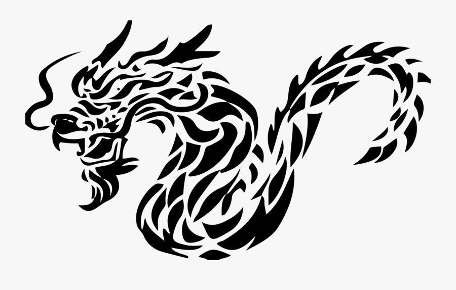 Transparent Dragon Vector Png - Chinese Dragon Tribal Png, Transparent Clipart