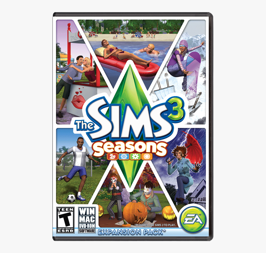 Clip Art Sims 4 Seasons Free Download - Sims 3 Games, Transparent Clipart