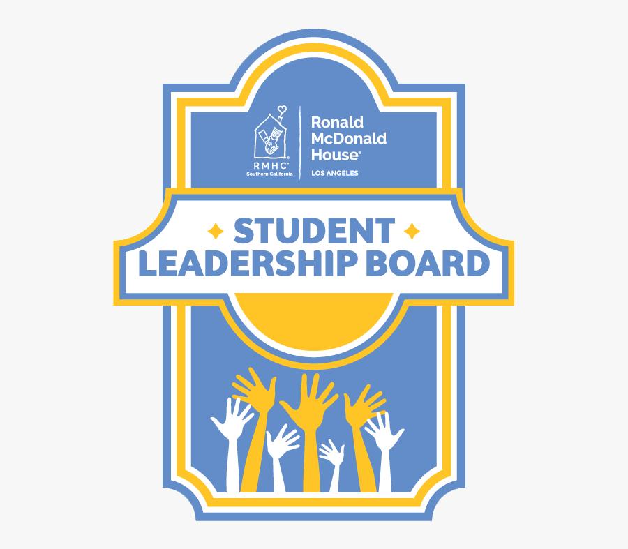 Student Leadership Logo - Student Leadership Board Ronald Mcdonald House, Transparent Clipart