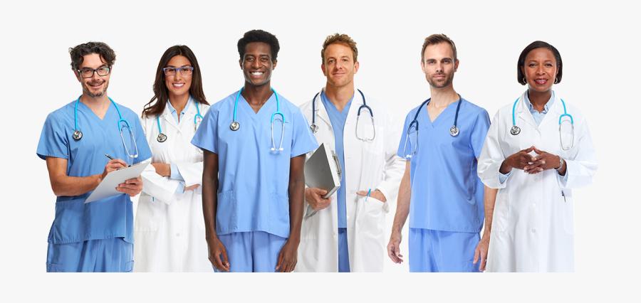 Clip Art Lrs Professional Group Diverse - Healthcare Professionals, Transparent Clipart