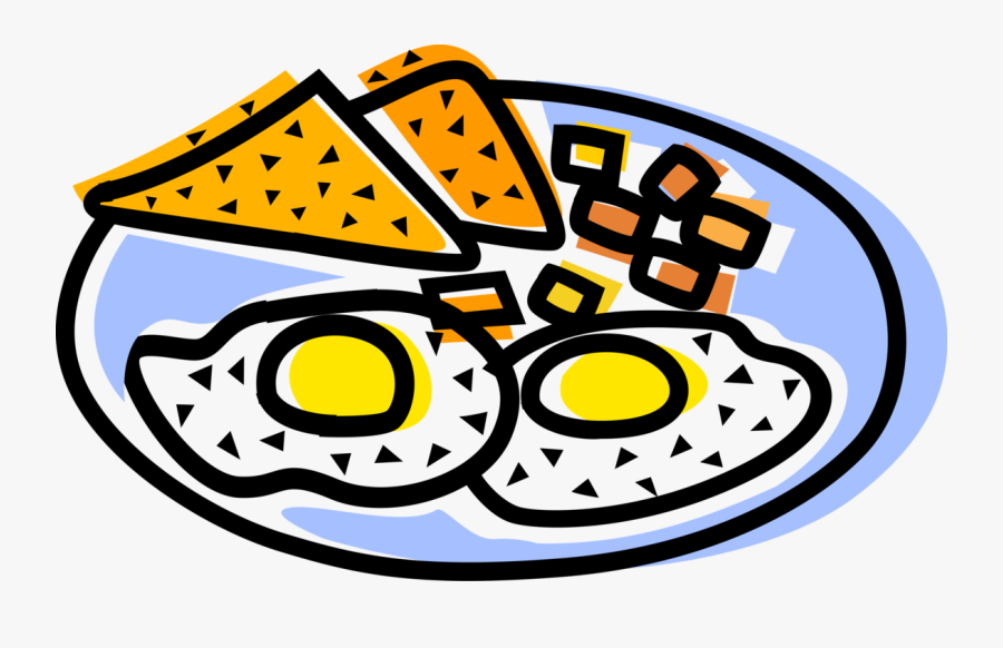 Vector Illustration Of Healthy Breakfast Sunny Side, Transparent Clipart