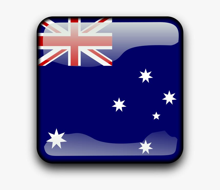 Transparent Country Cliparts - Cook Island Square Flag, Transparent Clipart