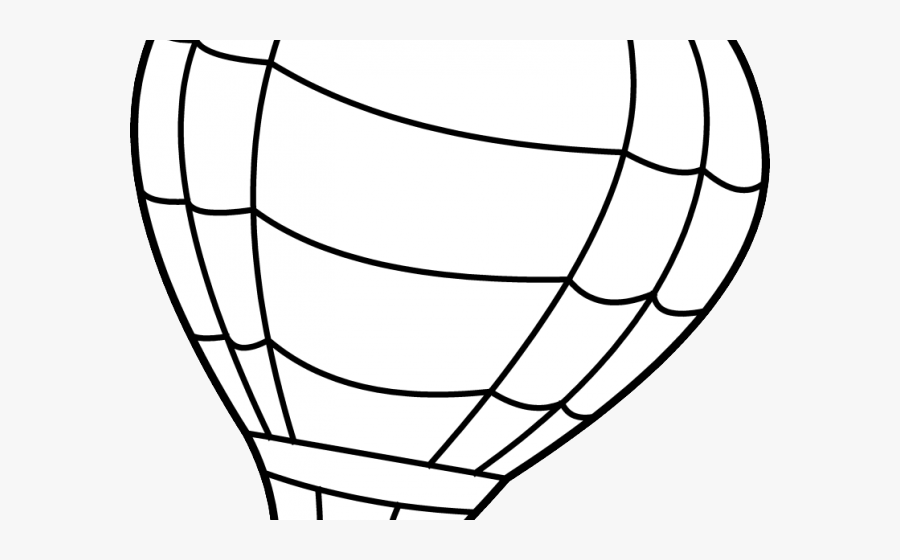 Colouring Page Of Hot Air Balloon, Transparent Clipart