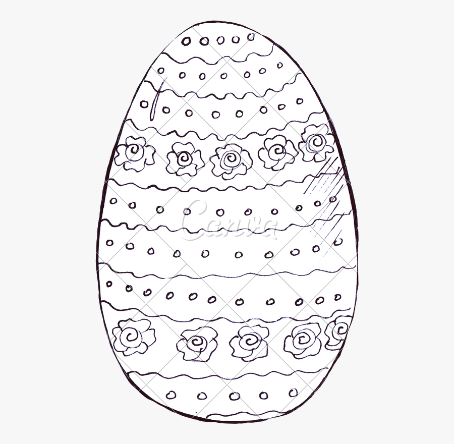 Drawing Egg Black And White - Circle, Transparent Clipart