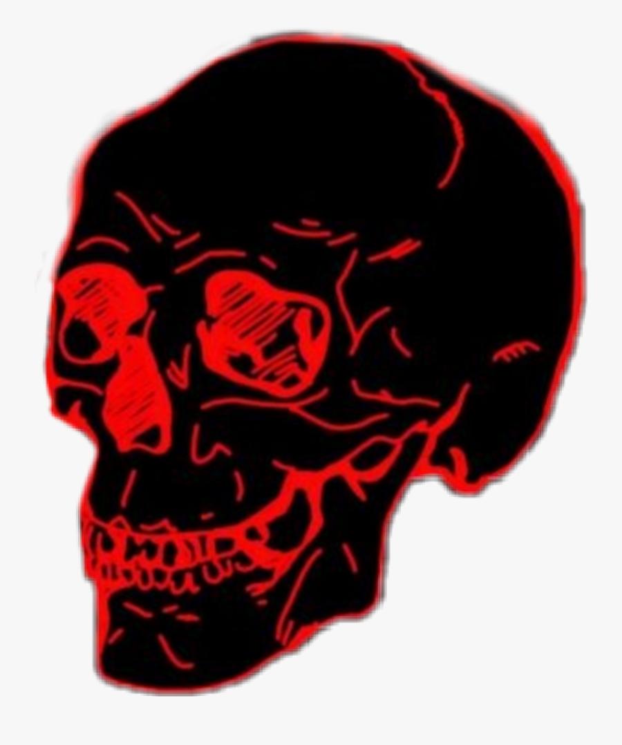 #skull #skullface #red #black #death #dead #skeleton - Red And Black Skull Png, Transparent Clipart