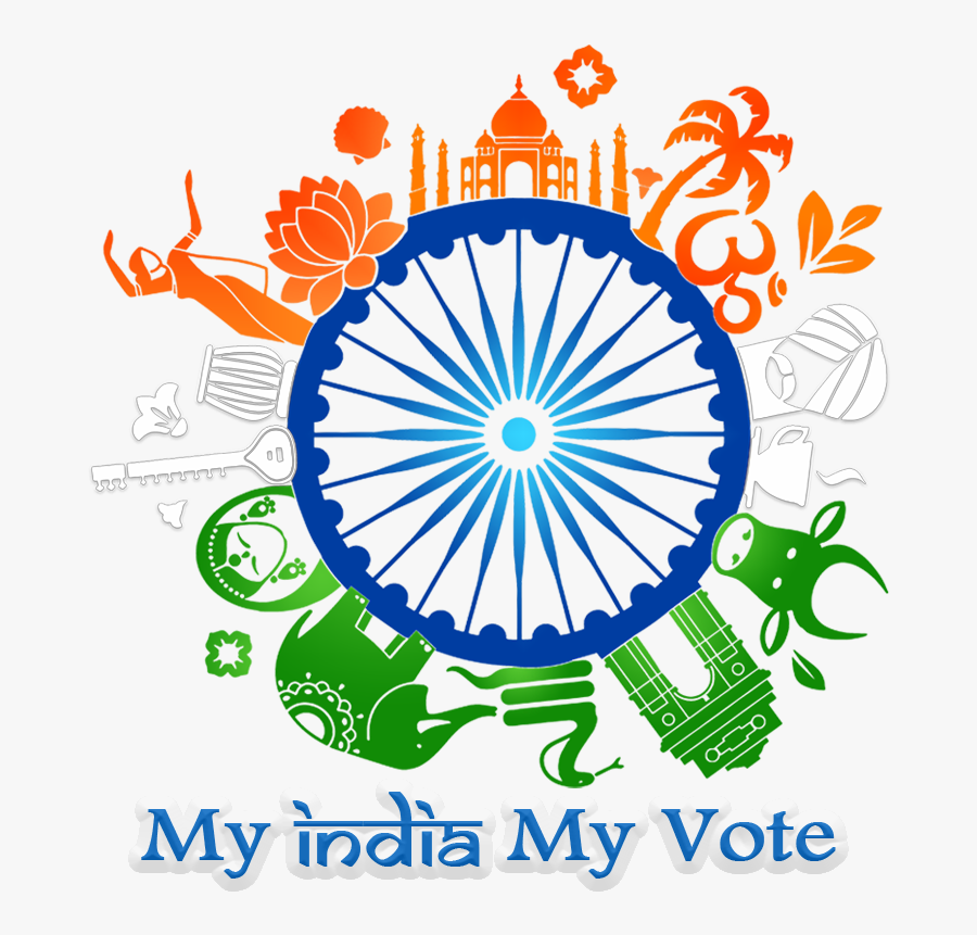 My India My Vote - Iran And India Flags, Transparent Clipart