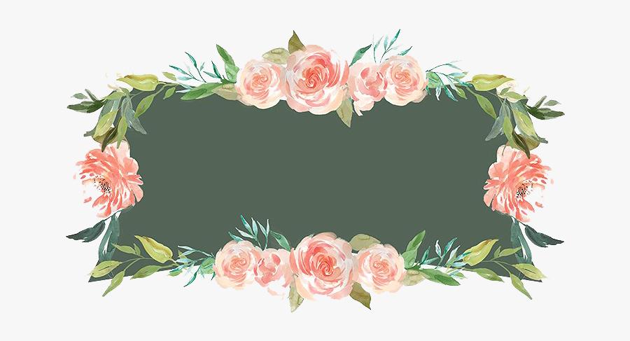 Floral Frame Png - Frame Floral Png Free, Transparent Clipart