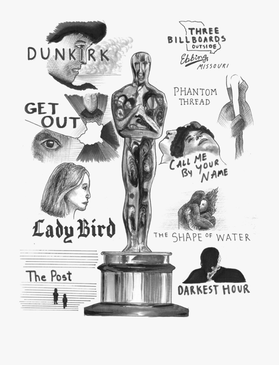 Transparent Oscar Statue Png Cartoon Free Transparent