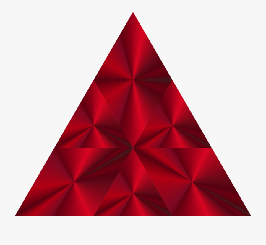 Triangle,red,line Art - Triangle, Transparent Clipart