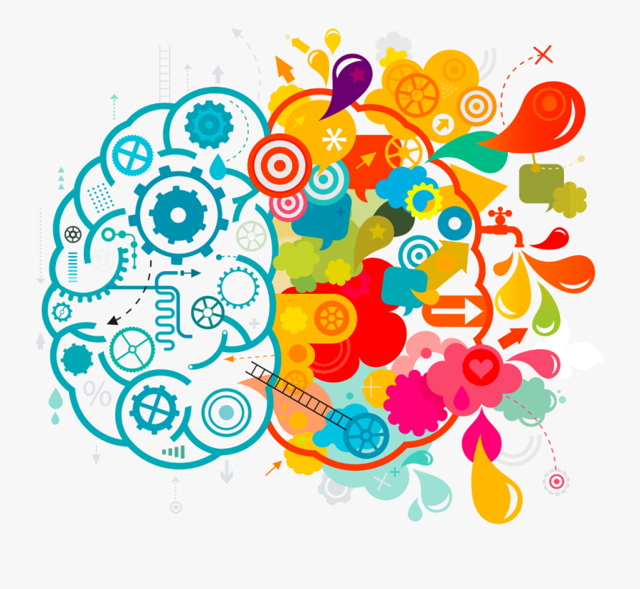 Left Brain Right Brain Vector, Transparent Clipart