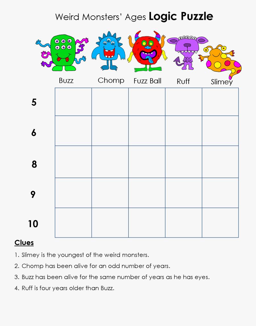 Logic Puzzle Kids, Transparent Clipart