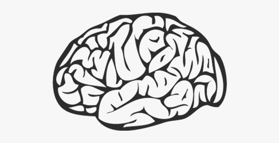 Brain Png Black - Brain Black And White Png, Transparent Clipart