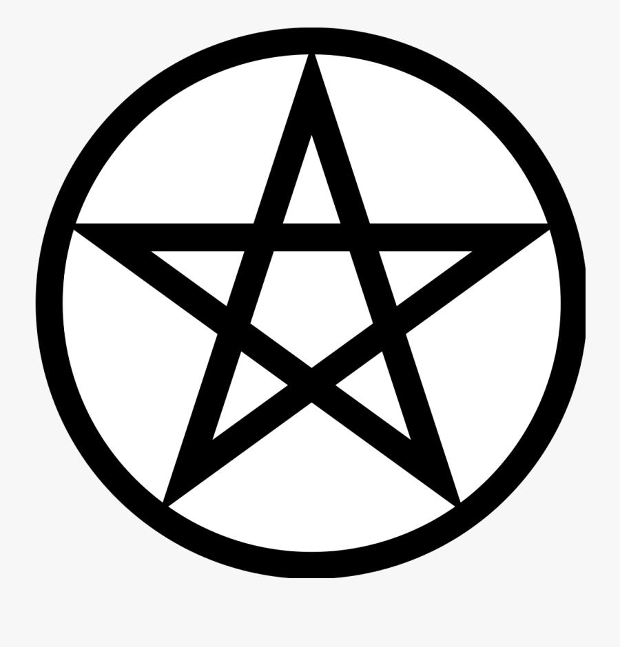Pentagram Pentacle Wicca Symbol Satanism - Pentagram Symbol, Transparent Clipart