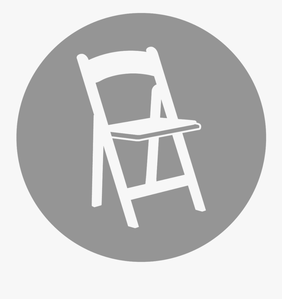 Tables And Chairs Png Web Icons - Folding Resin White W White Padded Seat, Transparent Clipart