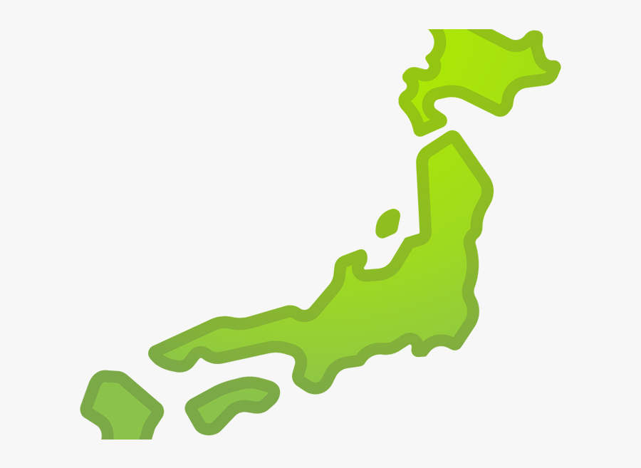Transparent Think Emoji Png - Japan Map Emoji, Transparent Clipart