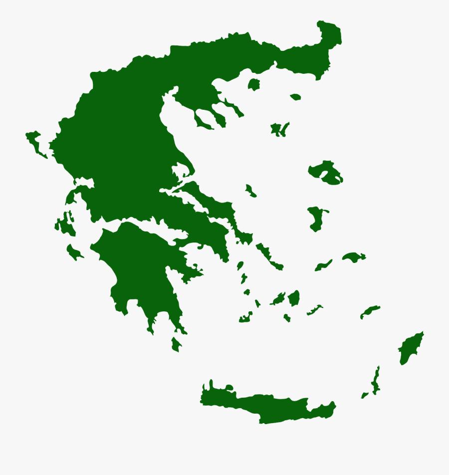 Greece Map Vector Png, Transparent Clipart