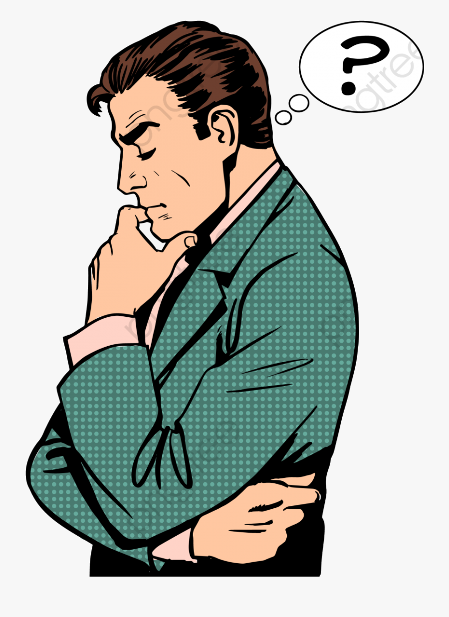 Thinking Commercial Use Resource Upgrade To Premium - Cartoon Man Thinking Clipart, Transparent Clipart