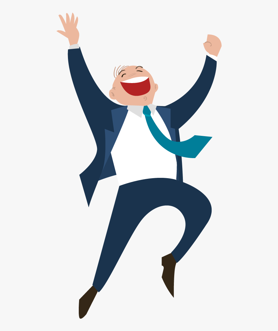 Happiness Clipart Happy Workplace - Vector Happy Man Png, Transparent Clipart