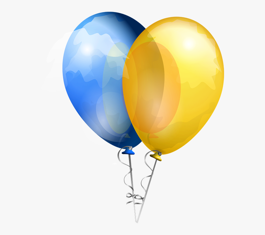 Yellow Balloon Cliparts 7, Buy Clip Art - Blue And Yellow Balloons Transparent Background, Transparent Clipart