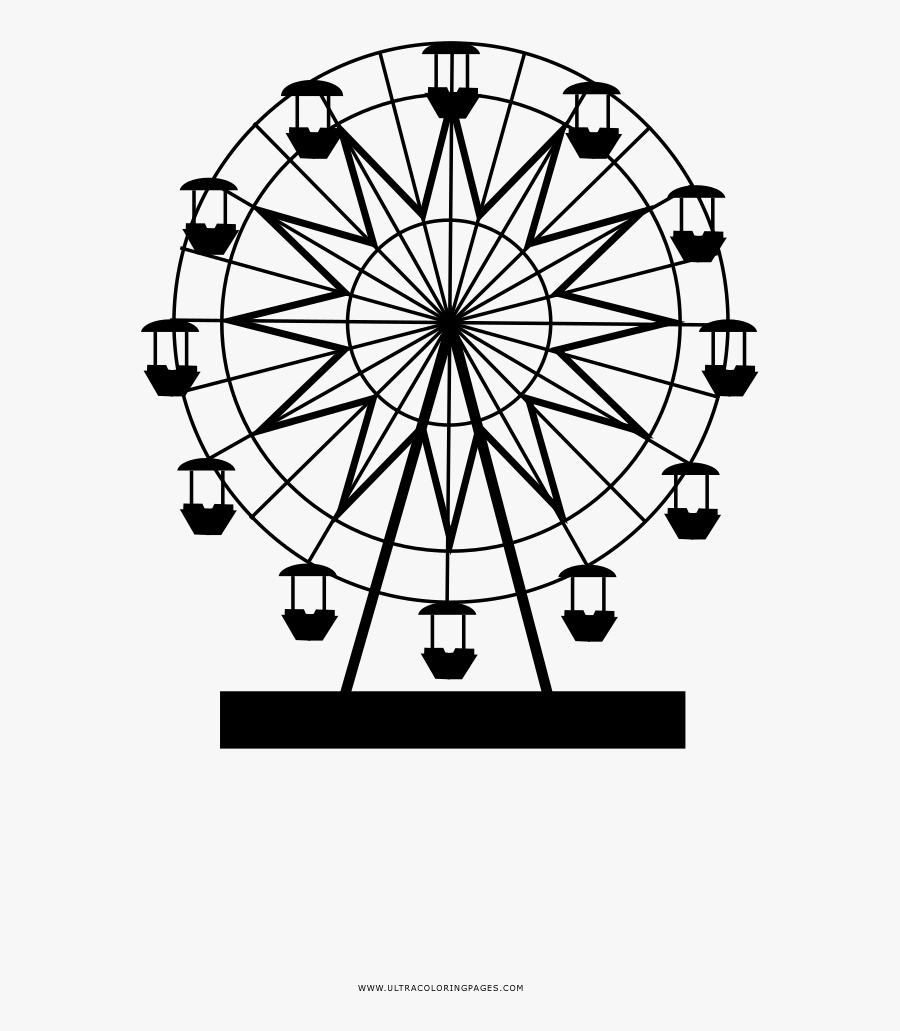 Ferris Wheel London Eye Drawing Coloring Book Free Transparent Clipart Clipartkey
