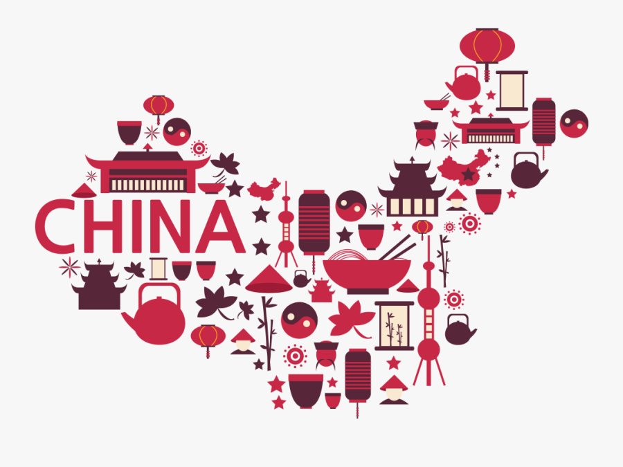 Symbols Of China - Free Transparent China Map, Transparent Clipart