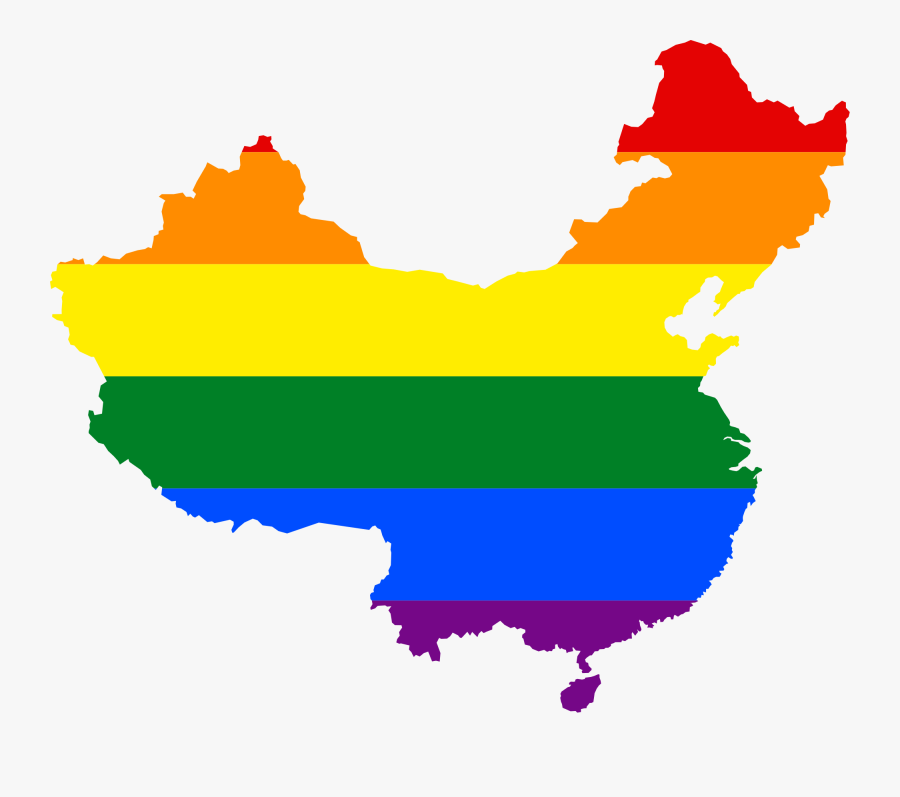 Flag Map Of Peoples Republic Of China Clipart , Png - China Lgbt, Transparent Clipart