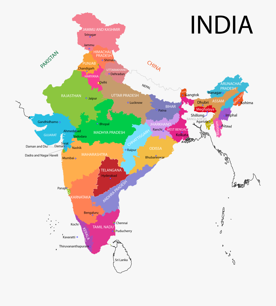 India Map Png Background Image - India And Brazil Map, Transparent Clipart