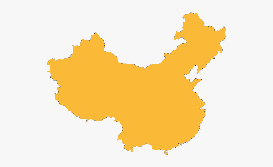 China Outline - Transparent China Map Clipart, Transparent Clipart