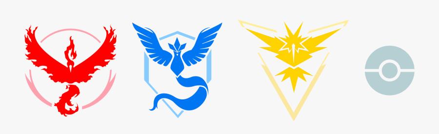 Clip Art Pokemon Go Icons - Pokemon Go Team Members, Transparent Clipart