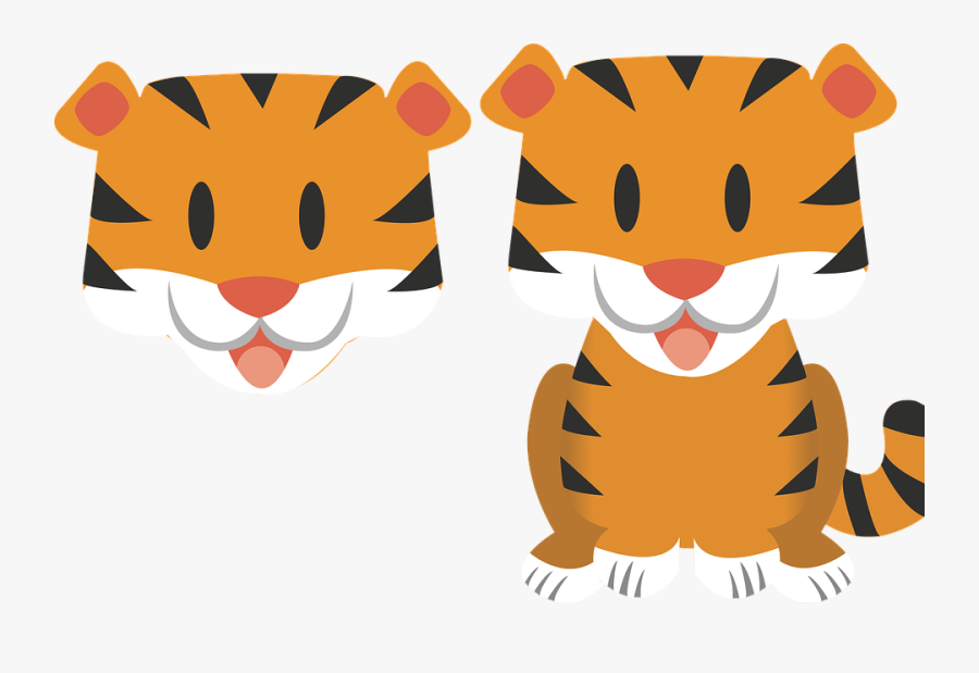 Baby Tiger Clipart - Baby Tiger Vector, Transparent Clipart