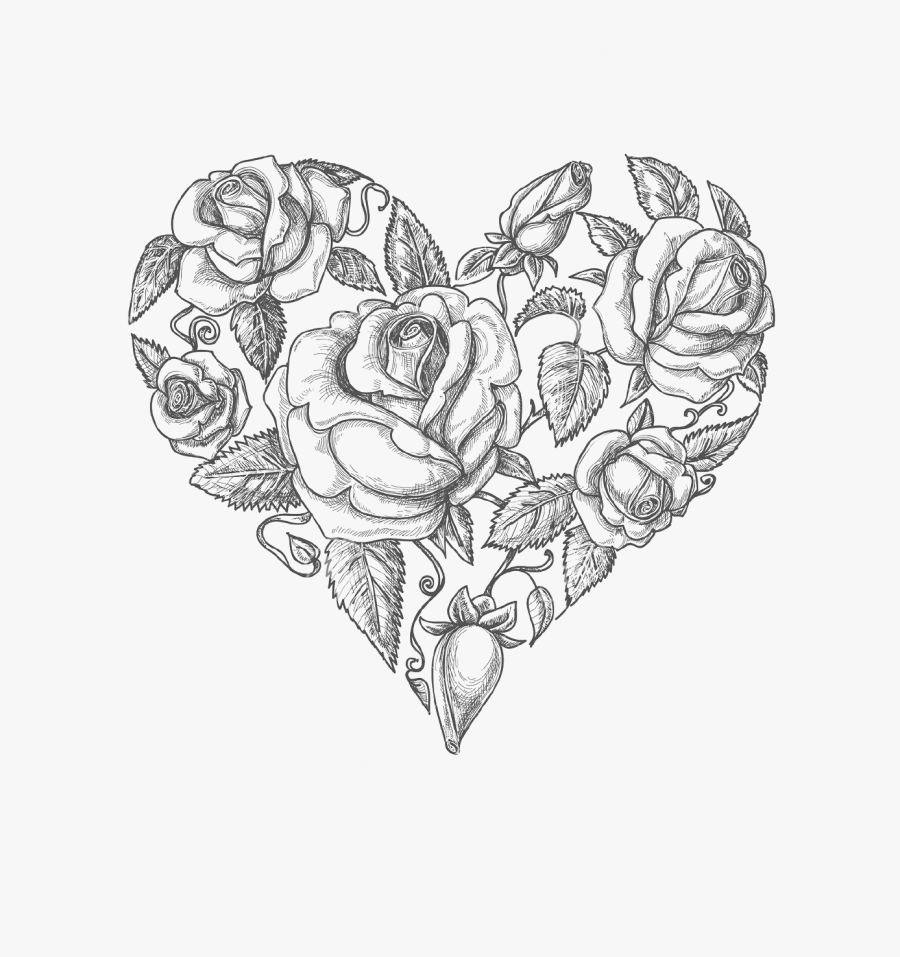 Rose Tattoo Clipart Vintage Rose - Easily Sketched Mothers Day Cards, Transparent Clipart