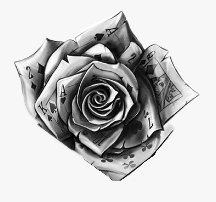 Transparent Rose Vine Png - Rose Hand Tattoo Png, Transparent Clipart