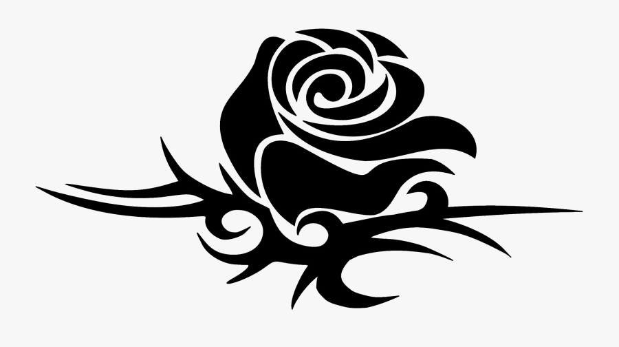 Tattoo Png Love - Small Tribal Rose Tattoos, Transparent Clipart