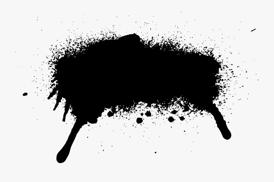 26 Grunge Spray Paint Stroke Banner - Spray Paint Clip Art, Transparent Clipart